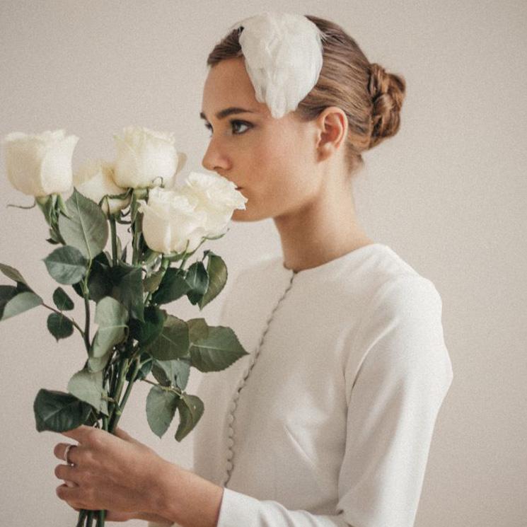 Cómo escoger correctamente tu tocado de novia para invierno