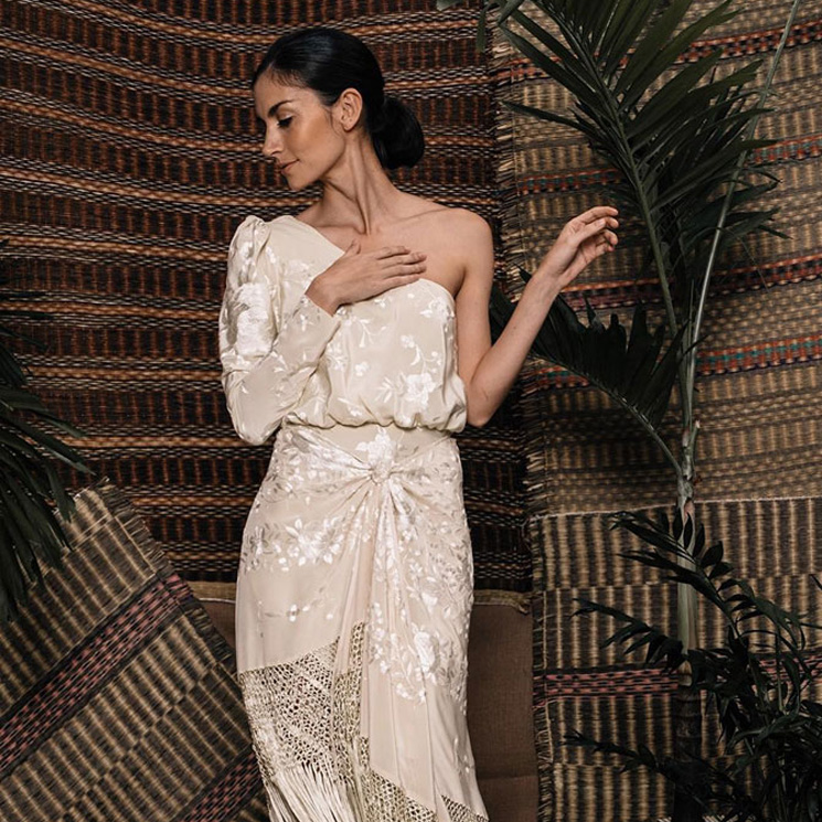 de mantón a vestido, este diseño 'made in spain' triunfa en nueva york