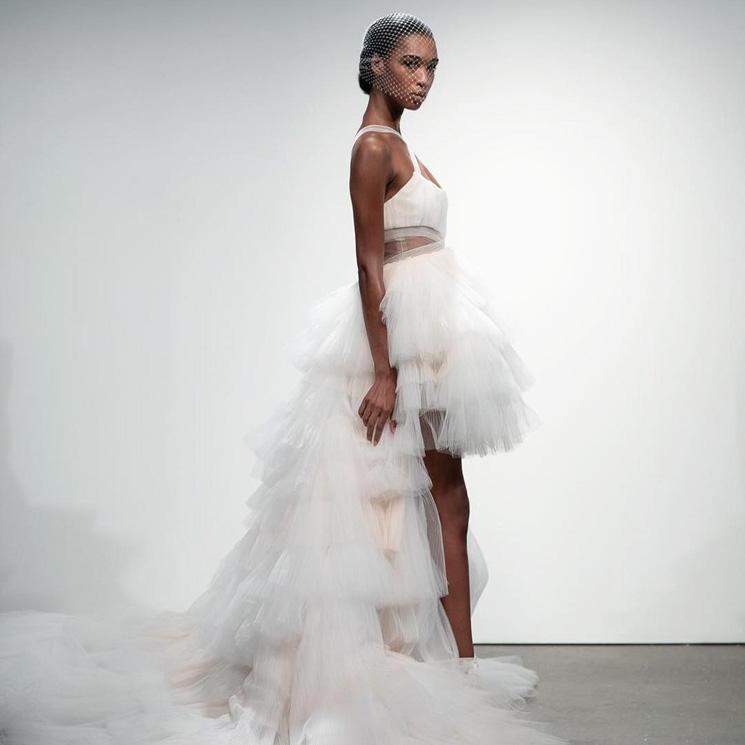 Vestidos de novia cortos para mujeres bajitas