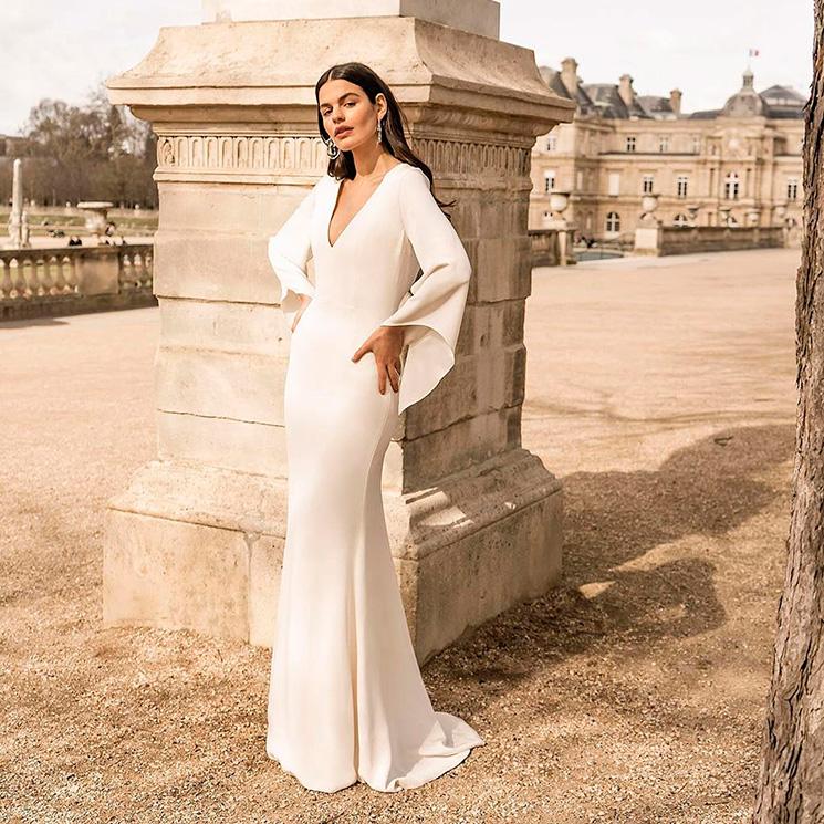 2a365b067 Un vestido de novia para cada silueta  encuentra el diseño que más favorece  a tu
