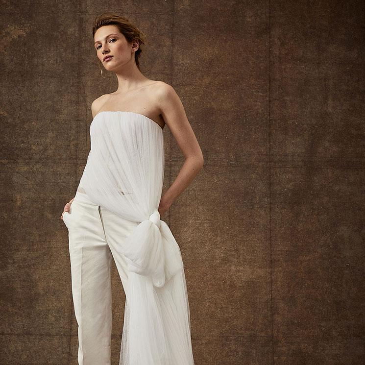 Tops y pantalones de novia tan bonitos que te harán olvidar los vestidos