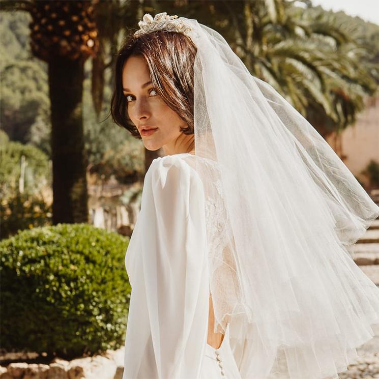 Los tocados de novia que más te favorecen si tienes el pelo corto o media melena