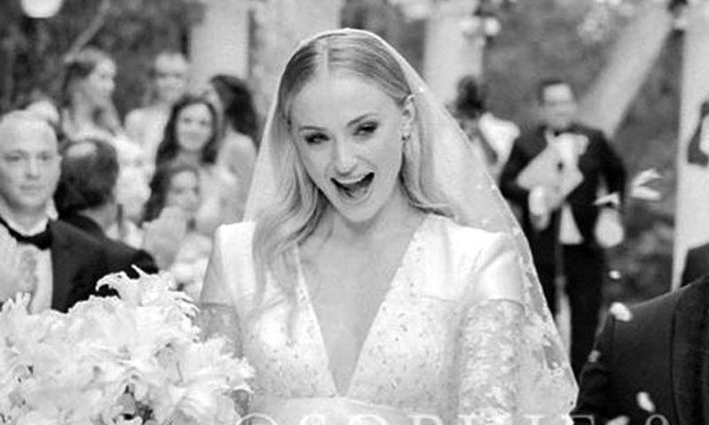 Las sorprendentes cifras que acompañan al vestido de novia de Sophie Turner