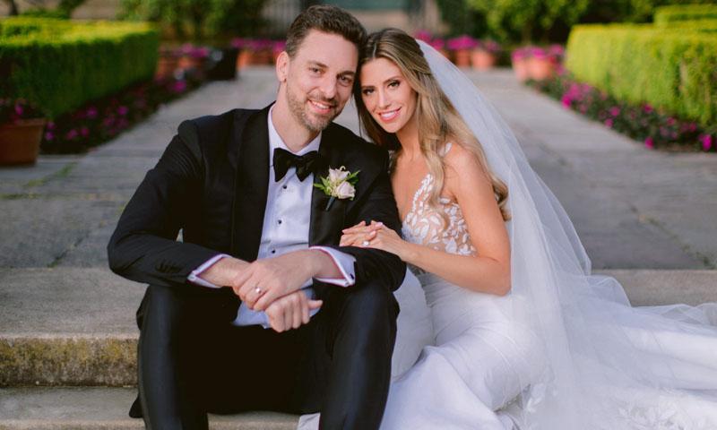 Los detalles del romántico vestido de Cat McDonell en su boda con Pau Gasol