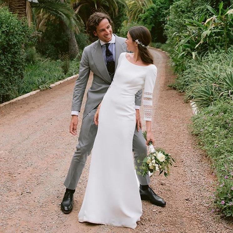 Todos los detalles del vestido de novia de Sandra Gago en su boda con Feliciano López