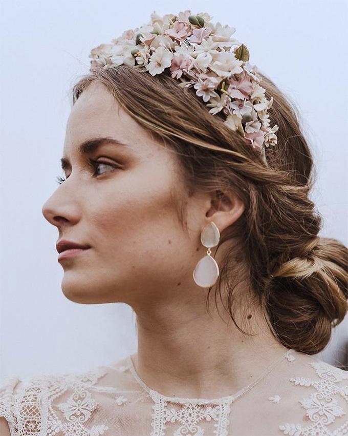 Peinados de novia de tendencia