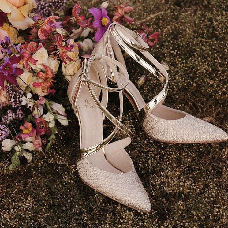 Todos estos zapatos de novia hacen las piernas infinitas (sin tener demasiado tacón)