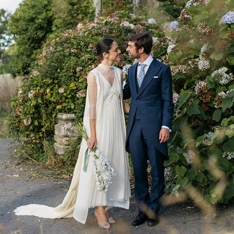 La historia de Sofía, la novia que transformó su vestido sencillo con un chaleco desmontable
