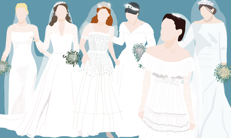 Seis 'royals' vestidas de novia que han marcado una década