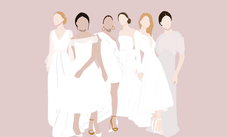 Un largo para cada vestido de novia: encuentra el tuyo en nuestra guía ilustrada