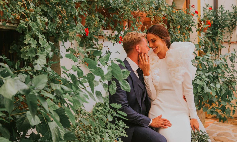 La boda de Yolanda, la novia del look desmontable con sello andaluz