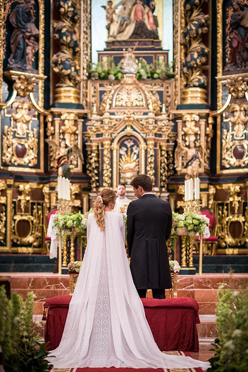 Una boda con vestido de Valenzuela