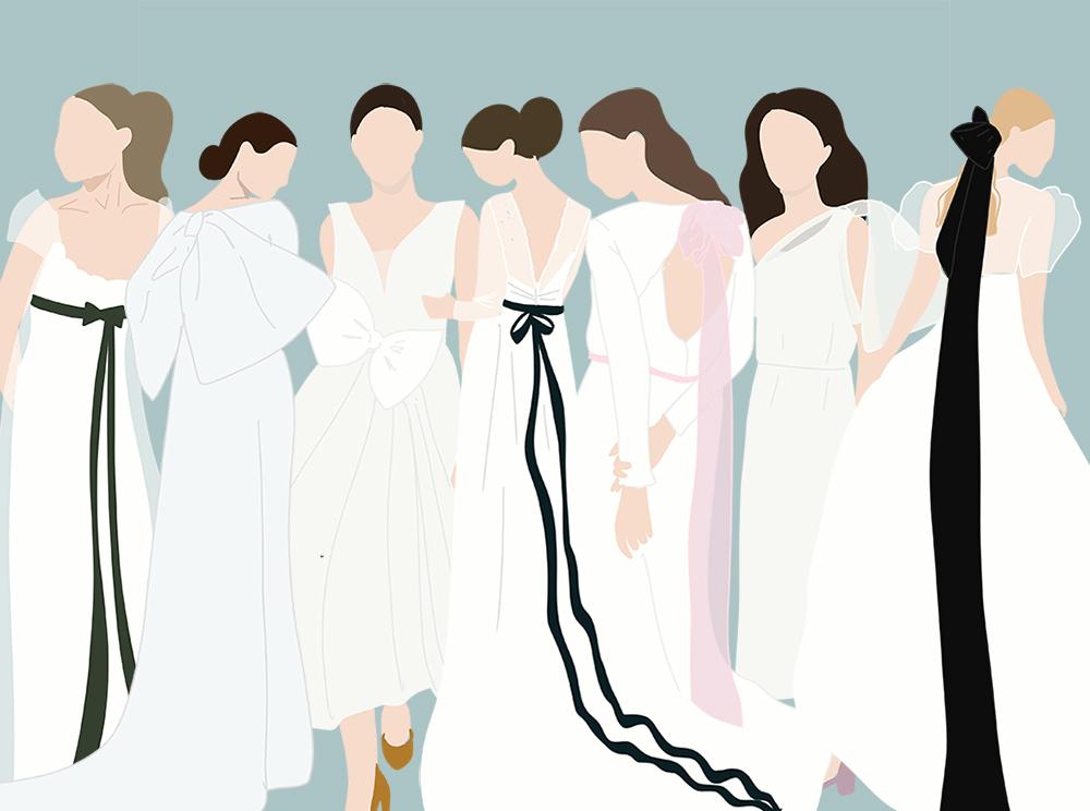 Ocho formas de transformar un vestido de novia sencillo con un lazo