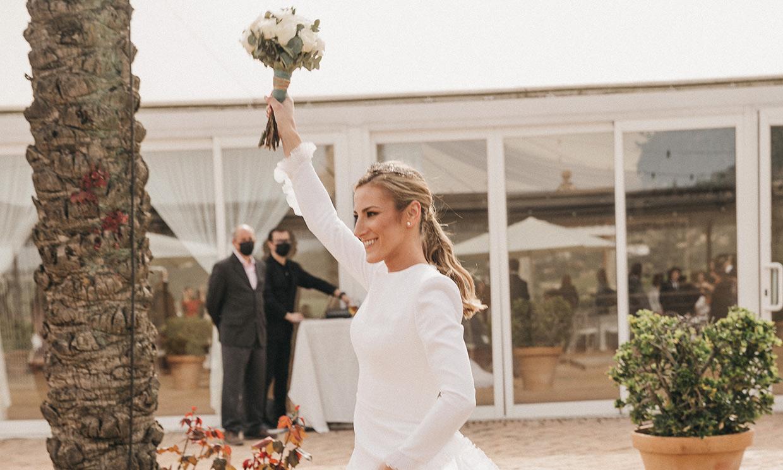 La boda de Ana en Córdoba con una tiara familiar y un vestido en homenaje a su madre