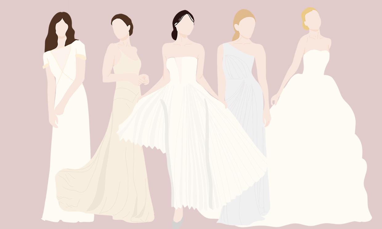 Tipos de faldas de novia: ¿cuál es la mejor para el vestido de tu boda?