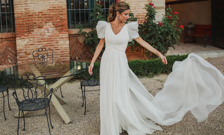 Cristina, la novia del vestido vaporoso que convirtió su boda en un enlace íntimo