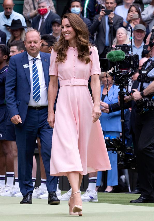 Robe rose de Kate Middleton à Wimbledon