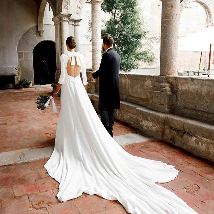 Gemma, la novia del lazo y el velo de plumeti que se casó en Segovia