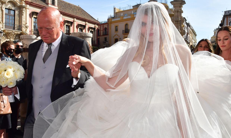 El exuberante vestido de novia de Sophie Karoly en su boda con Francisco de Borbón
