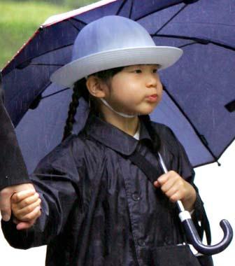 La princesa Aiko: 'pucheritos bajo la lluvia'