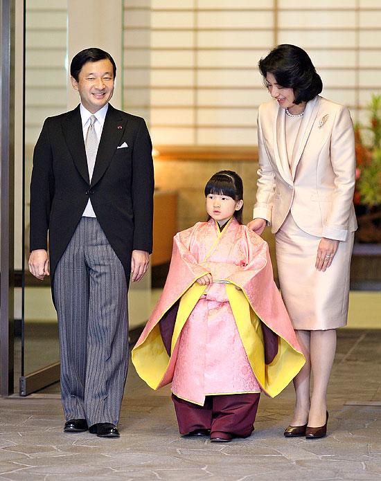 La princesa Aiko en su primera ceremonia oficial