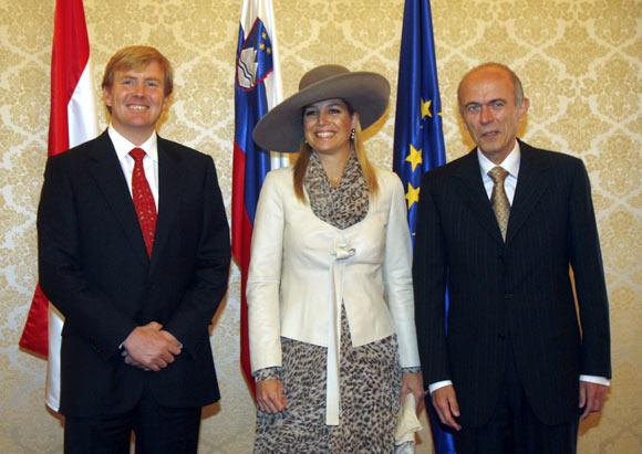 La princesa Máxima viajó a Eslovenia en un avión pilotado por su marido, el Príncipe Guillermo