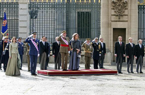 Don Juan Carlos desvela en la Pascua Militar cómo celebró su 70 cumpleaños