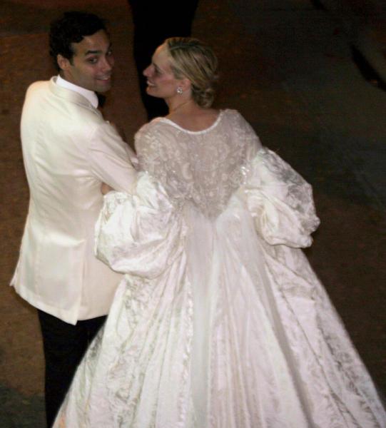 Andrea Casiraghi y su novia, Tatiana, asisten a la boda Andrés Santo Domingo