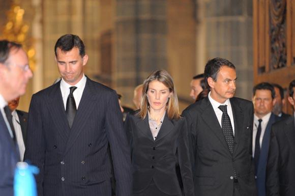 Los Príncipes de Asturias presiden en Gran Canaria el segundo funeral de Estado por las víctimas de Barajas