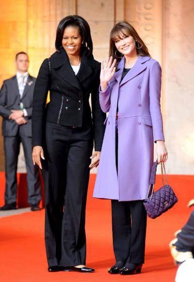 Michelle Obama y Carla Bruni, dos turistas en Estrasburgo
