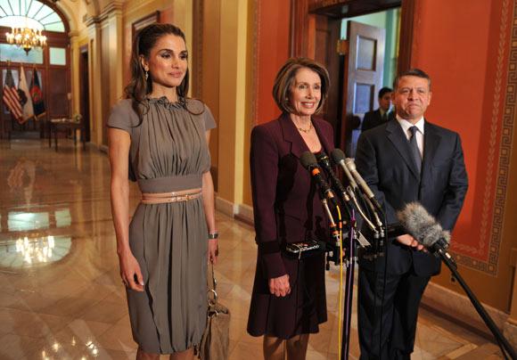 La reina Rania, de paseo con sus hijos en Washington