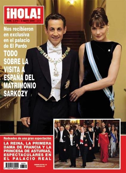 Excepcional exclusiva: El matrimonio Sarkozy posa para ¡HOLA! en el palacio de El Pardo