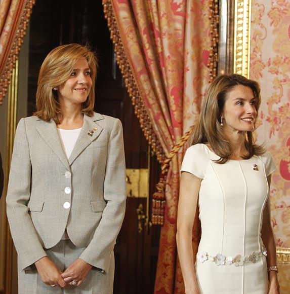 La princesa Letizia, la infanta Cristina y la princesa Máxima almuerzan juntas en Barcelona