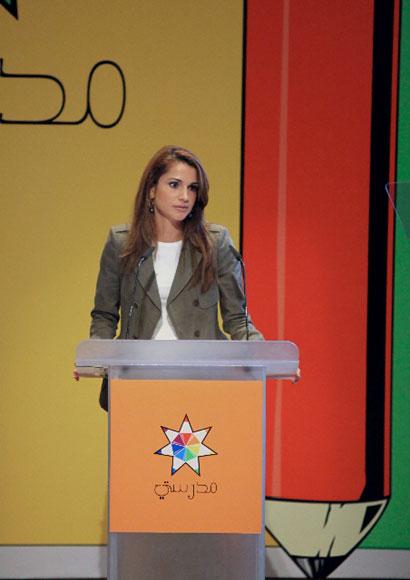 Rania de Jordania continúa su incesante lucha a favor de la educación infantil