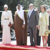 Los Reyes reciben a los Jeques de Catar, que comienzan su visita a España