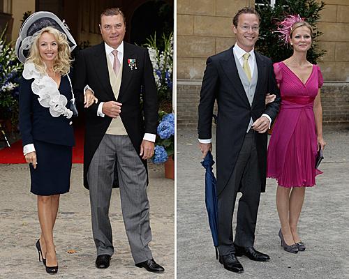 Miembros de la aristocracia europea en la boda de Jorge Federico de Prusia y Sofía de Isenburgo