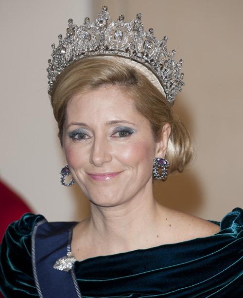La princesa Marie Chantal y la tiara hallada