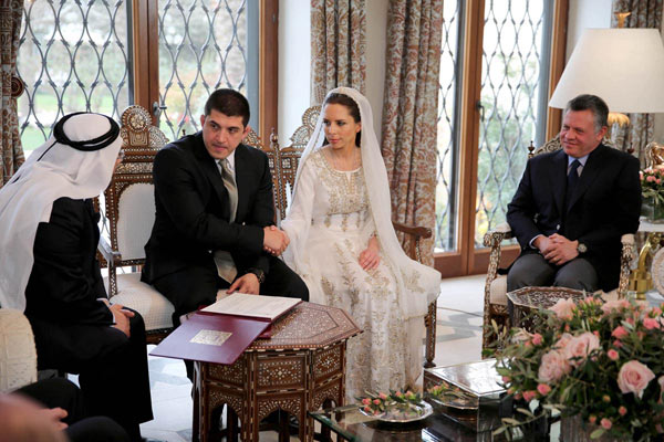 Imán de Jordania, hija de la reina Noor, se casa en una nueva boda real de las mil y una noches