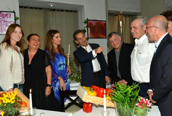Rania de Jordania y Carla Bruni, cena entre amigos en Niza