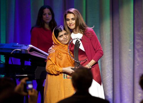 Rania y Malala