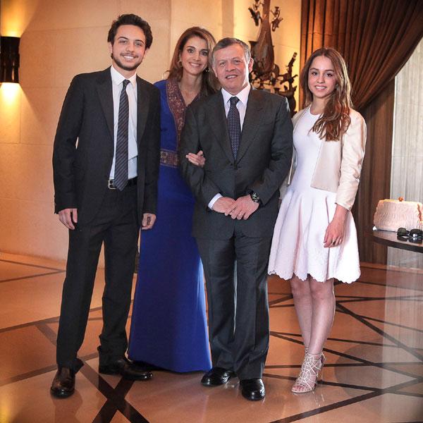 Reyes de Jordania e hijos