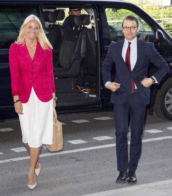 Cambio de pareja: Mette-Marit de Noruega y Daniel de Suecia comparten agenda