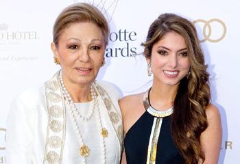 La emperatriz Farah Diba presenta en sociedad a su nieta, la princesa Noor de Irán