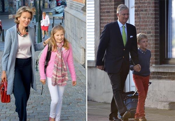 ¡Empieza el cole! Los Reyes de Bélgica y Holanda acompañan a sus hijos en su primer día