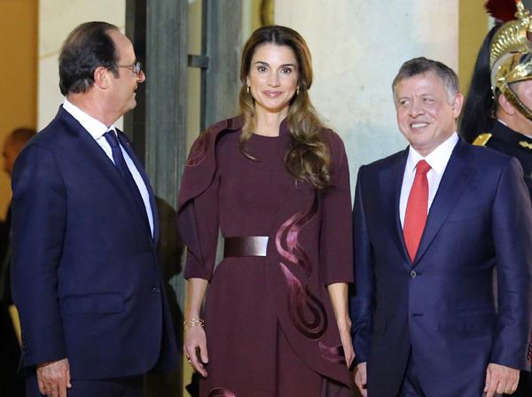 Rania de Jordania, centro de todas las miradas en su visita a París