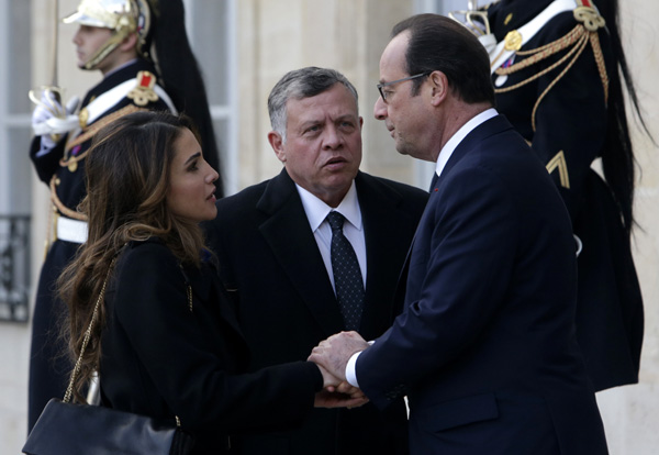 François Hollande, Angela Merkel, Mariano Rajoy, Rania de Jordania... se alzan contra el terrorismo en París