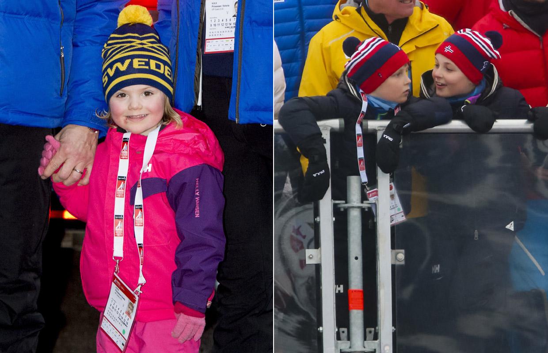 ¡Todos a la nieve! Estelle de Suecia y los pequeños Príncipes noruegos lo pasan en grande en los Mundiales de esquí