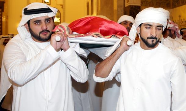El doloroso adiós al hijo mayor del Emir de Dubái
