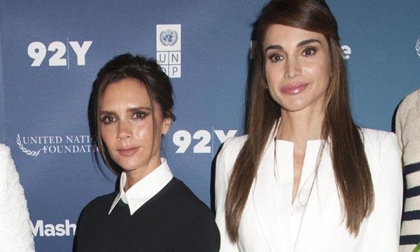 Rania de Jordania y Victoria Beckham, dos reinas de las tendencias frente a frente