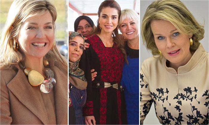 Máxima de Holanda, Matilde de Bélgica y Rania de Jordania celebran el Día de la Mujer